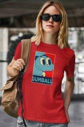 Gumball Kırmızı Kadın Tshirt - Tişört