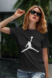 Air Jordan 02 Siyah NBA Kadın Tshirt - Tişört