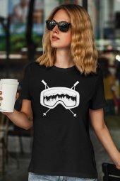 Glasses Siyah Outdoor Kadın Tshirt - Tişört