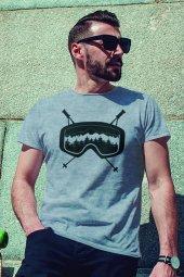 Glasses Gri Outdoor Erkek Tshirt - Tişört