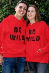 Sevgili Kombini Bewild Kırmızı Kapşonlu Sweatshirt - Hoodie