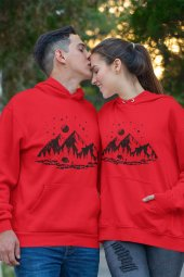 Sevgili Kombini Camping Kırmızı Kapşonlu Sweatshirt - Hoodie