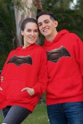 Sevgili Kombini Batman Kırmızı Kapşonlu Sweatshirt - Tek Ürün Fiyatıdır.