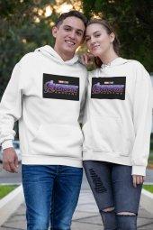 Sevgili Kombini Avengers Beyaz Kapşonlu Sweatshirt - Hoodie