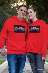 Sevgili Kombini Avengers Kırmızı Kapşonlu Sweatshirt - Tek Ürün Fiyatıdır.