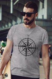 Pusula Gri Outdoor Erkek Tshirt - Tişört