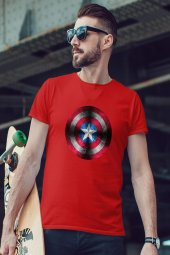 CPT America Kırmızı Erkek Tshirt - Tişört