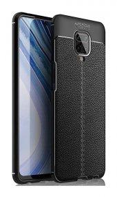 Xiaomi Redmi Note 9S Silikon Niss Deri Görünümlü Siyah-(nbdflchc)