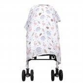 IŞŞIL Sevi Bebe Müslin Bebek Arabası Örtüsü ART-42 Flamingo