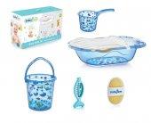 ışşıl Babyjem Bebek Banyo Küvet Seti 6 Parça 540 Mavi