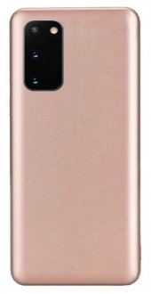 Samsung Galaxy S20 Kılıf Silikon Soft Premier Rosegol + Ekran Koruyucu Nano Tam Ekran-(wpvbcyw6c)