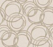 Adawall Anka 1614-2 Metal Halka Desenli Duvar Kağıdı