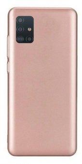 Samsung Galaxy A71 Kılıf Silikon Premier Rosegold + Nano Cam Ekran Koruyucu-(şsrqof)
