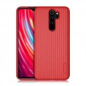 Xiaomi Redmi Note 8 Pro Kılıf Tio Silikon Kırmızı + Nano Cam Ekran Koruyucu-(pofvbc-47v)