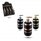 Şener ŞNR 500344 Stripe Siyah Sıvı Sabunluk