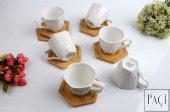 Şener ŞNR 101192 Bambu Porselen Kahve Fincanı 6lı