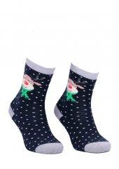 Dündar Dikişsiz Geyikli Parfümlü Çorap 010 | Lacivert