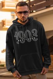 BJK 02 Seviyoruz Siyah Erkek Kapşonlu Sweatshirt - Hoodie