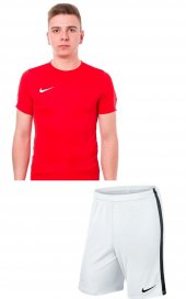 Nike M Nk Dry Park18 Beyaz Cepsiz Şort+ Kırmızıtişört