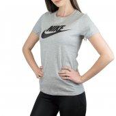 W Nsw Tee Essntl Icon Futura Kısakol Kadın T Shirt Gri