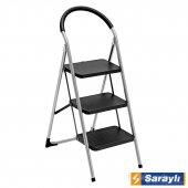 Saraylı Pratik Mega Lüx Merdiven 3 Basamaklı Siyah
