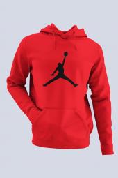 Air Jordan 02 Kırmızı Nba Erkek Kapşonlu Sweatshirt Hoodie