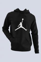 Air Jordan 02 Siyah Nba Erkek Kapşonlu Sweatshirt Hoodie