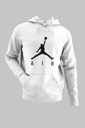 Air Jordan 03 Beyaz Nba Erkek Kapşonlu Sweatshirt Hoodie