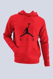 Air Jordan 03 Kırmızı Nba Erkek Kapşonlu Sweatshirt Hoodie