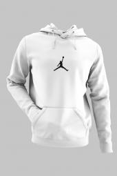 Air Jordan 05 Beyaz Nba Erkek Kapşonlu Sweatshirt Hoodie