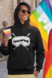 Glass Siyah Erkek Kapşonlu Sweatshirt Hoodie