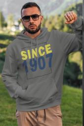 Since 1907 Gri Fb Erkek Kapşonlu Sweatshirt Hoodie