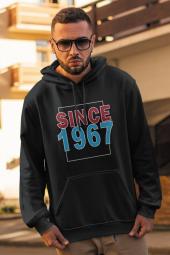 Since 1967 Siyah Erkek Kapşonlu Sweatshirt Hoodie