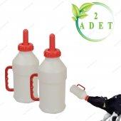 Buzağı Biberon Dana Süt Biberonu 2.5 Litre 2 Adet Büyükbaş İnek Sığır Yavrusu İçin