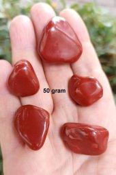 50 Gram Kırmızı Jasper Tamburlu Parça 402
