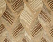 Lamos 6601-04 Kahverengi Tonlu Yaprak Model Duvar Kağıdı