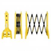 Mfk 7002 Sarı Akordiyon Bariyer Taşınır Reflektörlü 97x255 cm
