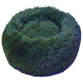 Dubex Ponchik Peluş Yuvarlak Yatak Yeşil Medium 65x9.5h cm