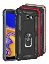 Samsung Galaxy J4 Plus Kılıf Crash Vega Yüzüklü Standlı Silikon-(hnbv-67n)
