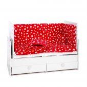 Sluupy Kırmızı Yıldızlı Bebek Uyku Seti 70x130 (7 parça)
