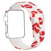 Apple Watch İçin 42mm  Yüksek- Kalite Desenli Silikon Kordon