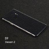 Galaxy S9 Timsah Derisi Görünümlü Arka Kaplama Sticker
