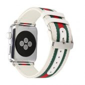 Apple Watch İçin 1,2,3 38mm Canvas Dokuma 3 Renk Kayış Kordon