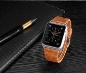 Apple Watch İçin 1,2,3 38mm Deri Kordon Kayış