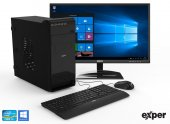 EXPER PC ACTIVE DEX322 İ3-9100 4GB DDR4 240GB SSD WIFI WINDOWS10+KB MOUSE SET+21.5 EXPER MONİTÖR