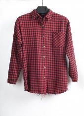 Kırmızı Siyah Kadın Oduncu Gömlek