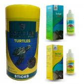 Rotifish Kaplumbağa Yem Ve Vitamin Seti 3 Parça