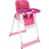 Norfolk Poly Smart Mama Sandalyesi - Sırt Ayarlı ve Kademeli Pembe