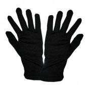 5 çift siyah garson gösteri eldiveni PAMUKLU eldiven Egzema eldiveni