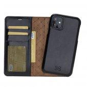 Bouletta MW F360 Deri Telefon Kılıfı iPhone 11 RST1 Siyah RFID